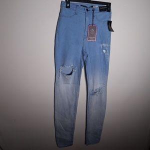 NWT Fashion Nova Aphrodite Blue Light Skinny Jeans